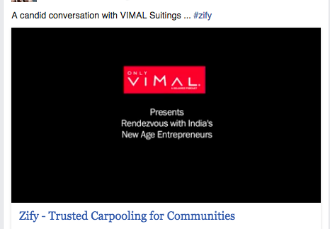 (a series by Vimal suitings, featuring startup founders)
