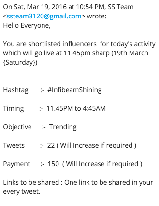 infibeam influencer email