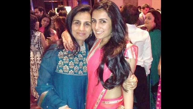 Chanda Kochhar with daughter arti